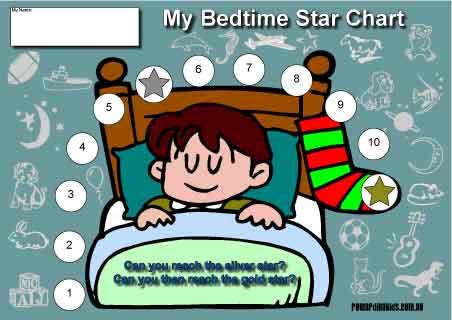 bedtime boy reward chart
