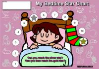 bedtime girl reward chart