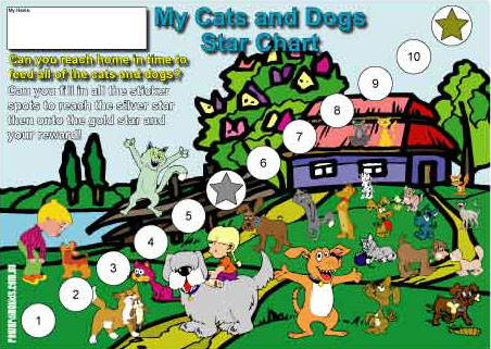 cats and dogs reward chart