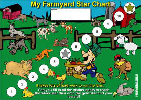 farmyard reward chart